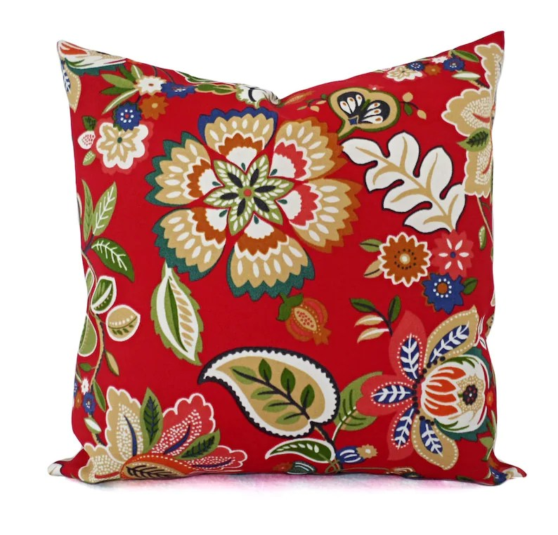two floral pillow covers