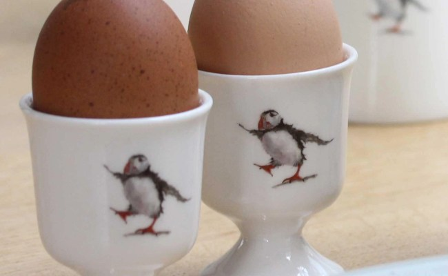 Puffin Egg Cup Unique Gift Puffin Gift Fine Bone China Etsy
