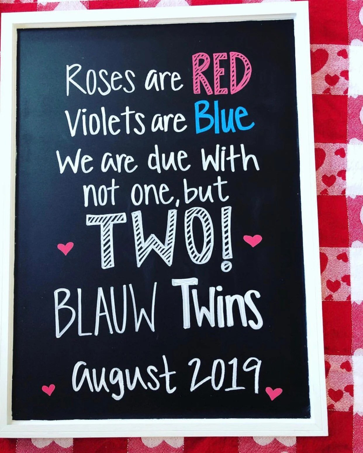 Roses Are Red Violets Are Blue Baby Announcement : roses, violets, announcement, Roses, Violets, Twins, Pregnancy, Announcement