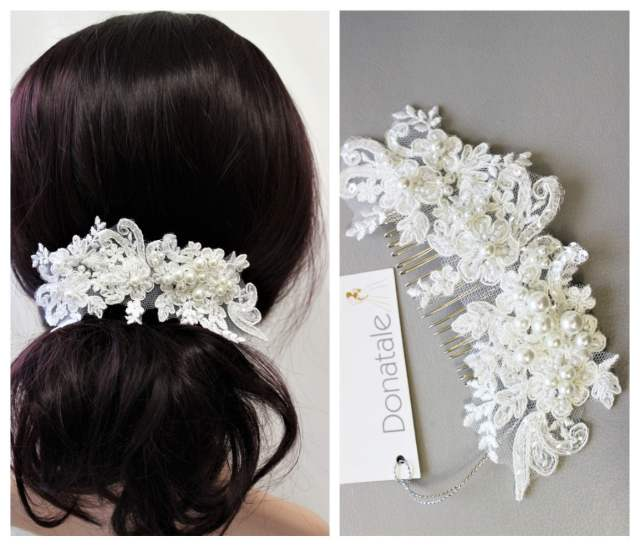 sale bridal hair comb wedding hair piece bridal headpiece bridal hair piece wedding hair accessory pearl lace comb wedding comb bridesmaid