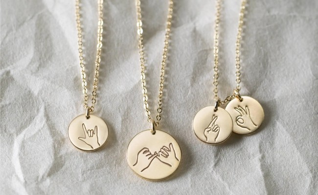 Sister Gifts Best Friend Necklaces Hand Gestures Necklace