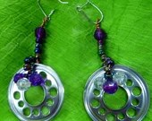 Hard drive spindle ring Earrings
