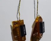 Computer hard drive connector earrings