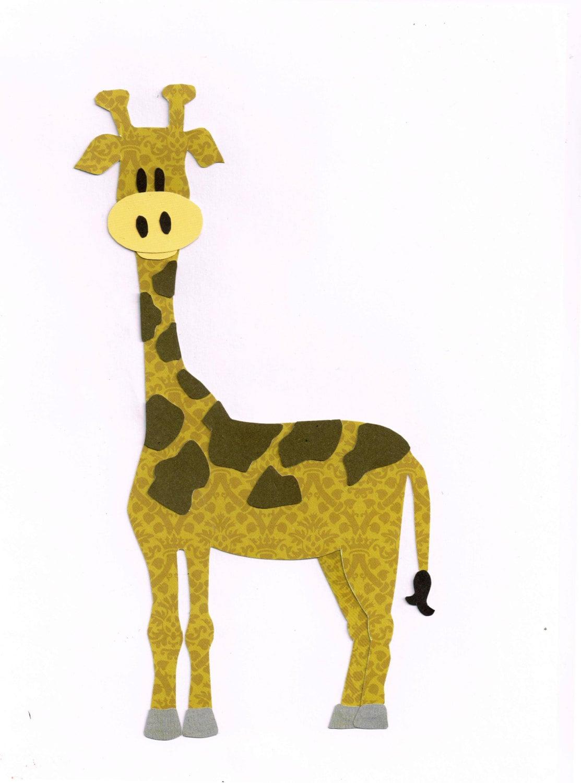Giraffe Applique Template Pattern Zoo Animals Jungle
