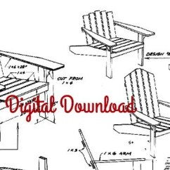 Adirondack Chair Blueprints Lowes Outdoor Cushions Patio Plans Etsy Blueprint Vintage Woodworking Deck Furniture Diy 1960 S Instant Pdf Digital Download