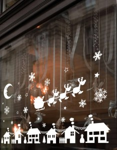 Etsy also christmas xmas display shop window wall decorations decals stickers  rh