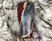 Paint Swirl Tumbler Cup Customized Tumbler Custom Birthday Gift Acrylic Skin Acrylic Cells