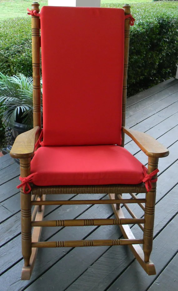 2 pc rocking chair cushions office costco indoor outdoor solid red foam cushion set etsy image 0