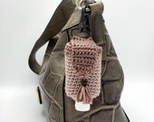 Handmade Hand Sanitizer Sling for purses, bags, and travel