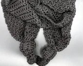 Black Lava Knotted Scarf