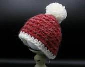 3-6 months Winter Hat w/pom pom