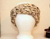 Chunky Ear Warmer in 'Cream Gray'