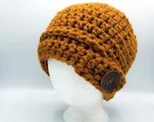 Thick Mustard cap w/button