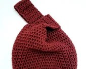 Japanese Knot Bag in 'Pomegranate'