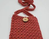 Coral/Rust Crossbody Cell Phone Bag