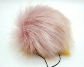 Pink Plumeria Faux Fur Pom Pom