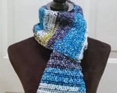 Classic Scarf with Fringe in 'Starry Night'