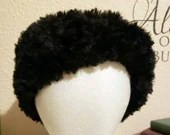 Black Faux Fur Ear Warmer