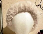 White Faux Fur Ear Warmer
