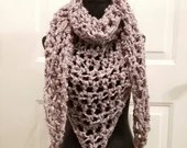 Luciana Triangle Scarf in 'Smoky Purple'