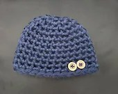 Thick Newborn Beanie with buttons