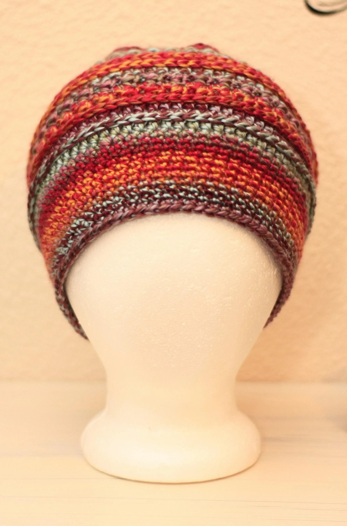 Multi-Colored Textured Slouch Beanie