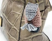 Boho Sanitizer Holder with claw clip and snap closure