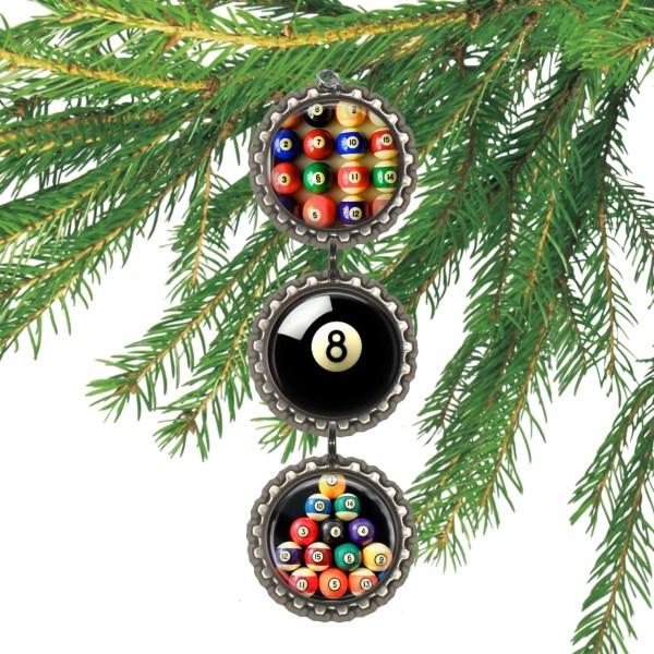 Billiards Ornament Pool Player Christmas