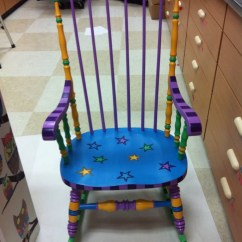 Teacher Rocking Chair Sequin Covers Etsy Image 0