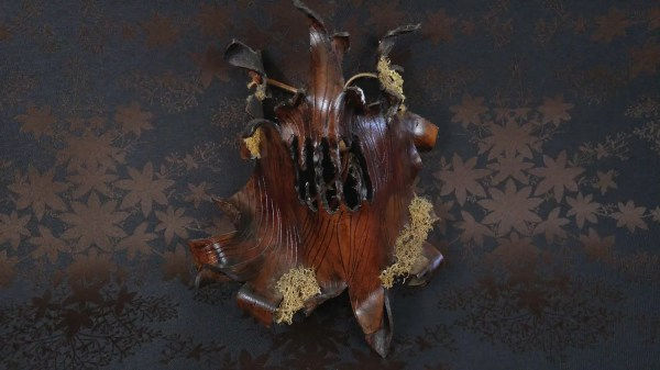 Evil Tree Spirit Leather Mask. Woodland Greenman Ent