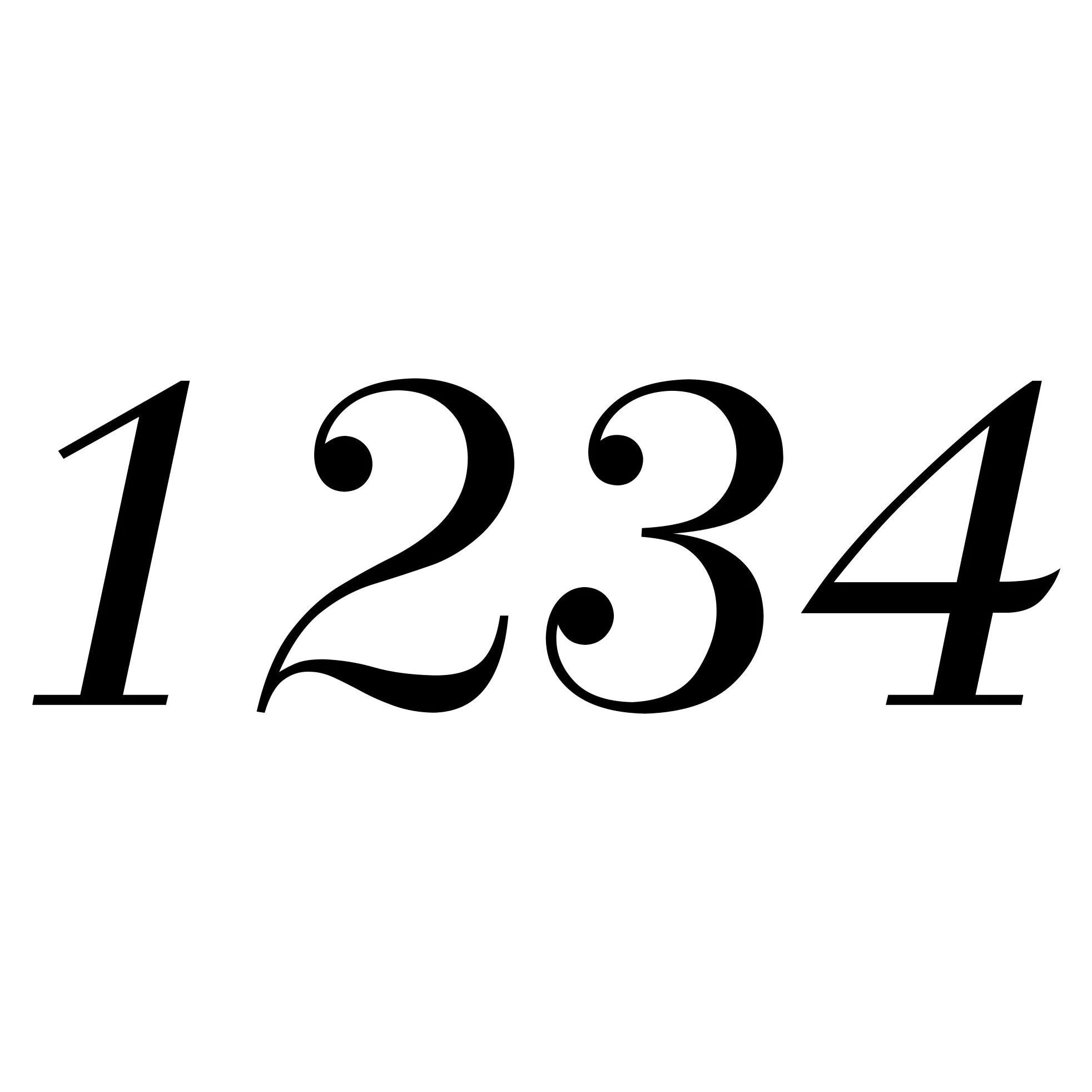 Set Of Two 2 Mailbox Numbers Vinyl Decal Stickers 2