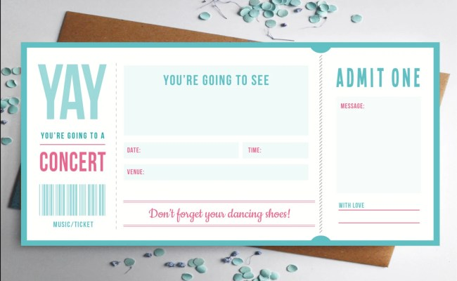 Music Ticket Concert Gift