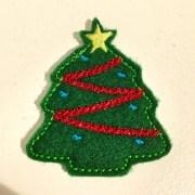 christmas tree hair clippie