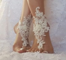 Ivory Beach Wedding Barefoot Sandals Shoes Prom