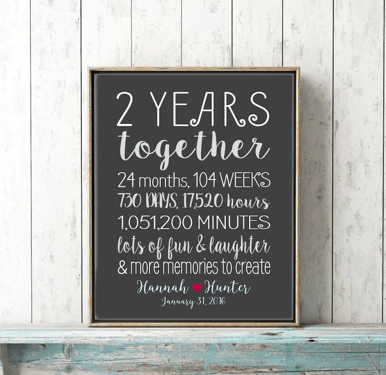 2 year anniversary gifts