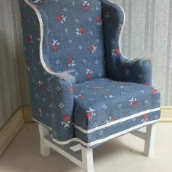 Country Style Wingback Chairs Dyeing Cotton Chair Covers Wing Back Doll Etsy Upholstered On A One Inch Scale Chippendale