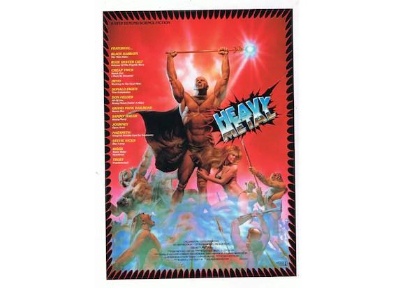 heavy metal 1996 original vintage japanese movie poster