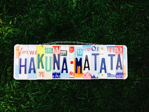Hakuna Matata. Kids. Nursery Decor. License Plate Sign. Art. Lion King