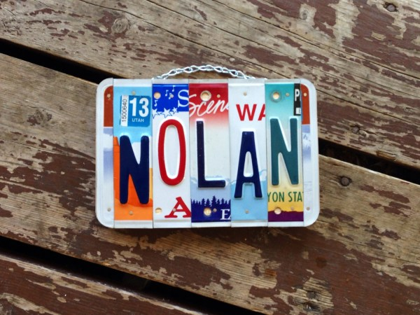 Recycled License Plate Ideas