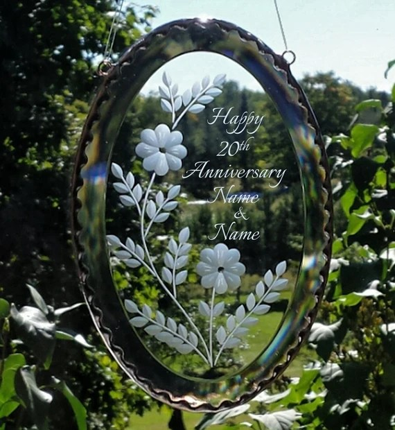 Clear Oval Glass Bevel Anniversary Gift