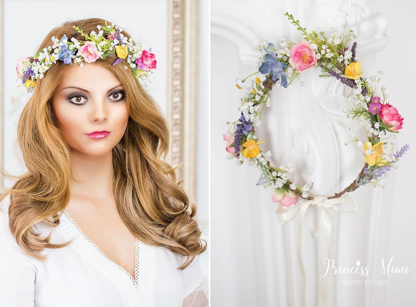 Braut Blumenkranz Haarkranz Schleierkraut Hochzeit