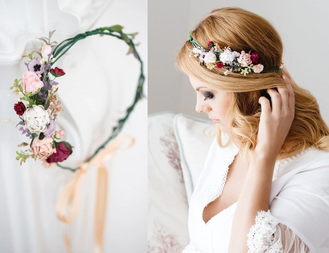 flower crown wedding, bridal headpiece, hair wreath tiara,bridal hair flowers,wedding hair accessories headband burgundy blush,apricot