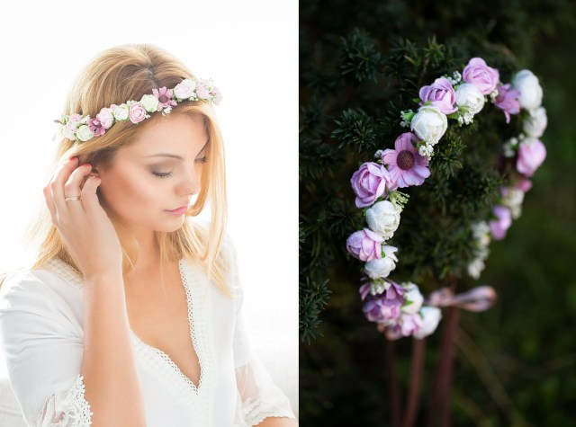 hair wreath flower crown, bridal floral headpiece, wedding tiara, bridal flowers, fairy crown,festival or bridal hair accessories