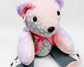 PREEMIE Memory Bear, Actual birth height, actual birth weight, Weighted memory bear, micro preemie gift, bereavement gift, micro preemie