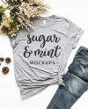Fall T Shirt Mockup Bella Canvas 3413 Unisex Athletic Grey Etsy