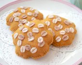 Felt Food Anzac Biscuits, Traditional Australian Biscuits, Oat Cookies, Play Kitchen, Pretend Food, Tea Party