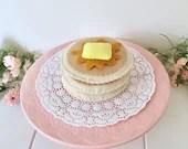 Pancakes, play food, felt food, felt pancakes, pancake stack, pretend play, breakfast food, play kitchen