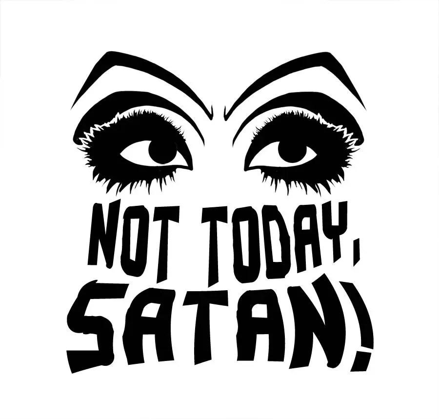 Bianca Not Today Satan Decal RuPaul Drag Race Drag Queen