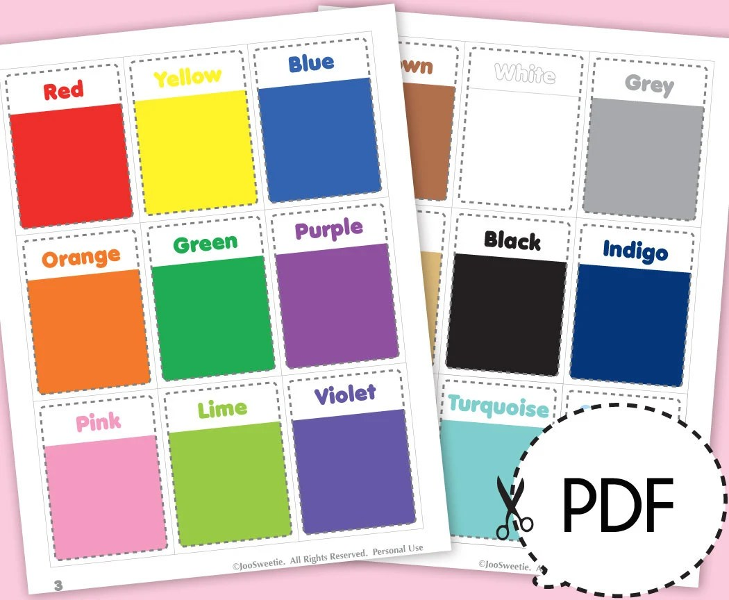 Color And Shape Flash Cards Printable Download