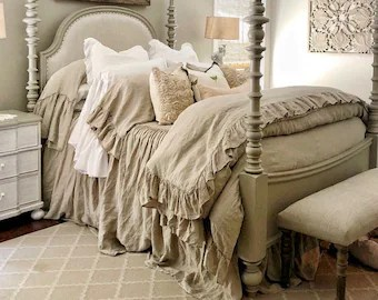 shabby chic bedding etsy